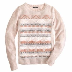 J Crew Inside Out Fair Isle Nordic Cozy Sweater